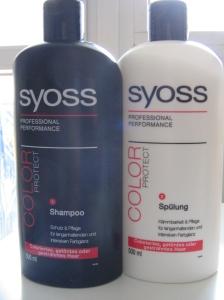 Shampoo e amadiador Syoss Color Protect - gama profissional